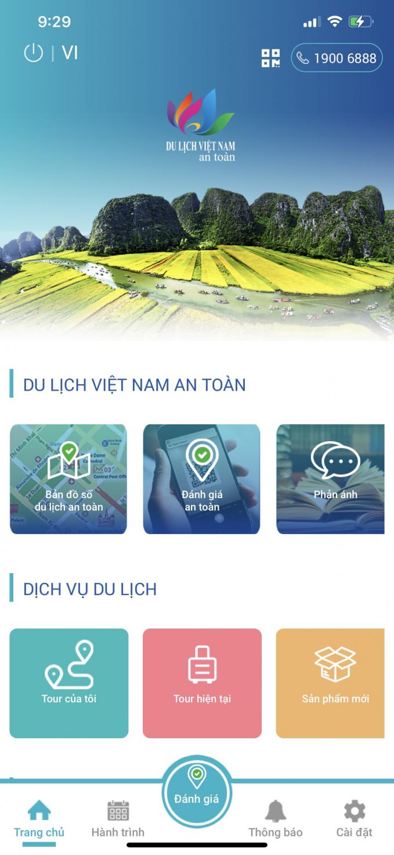 Safe Vietnam Tourism App interface (Source: Vietnam National Administration of Tourism)