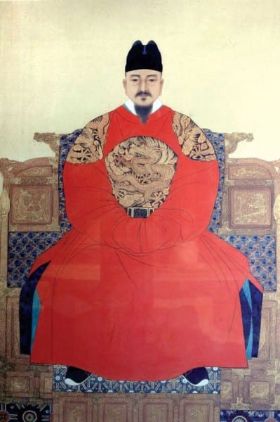 Portrait of the famous gentle king SeJong of the Joseon Dynasty.